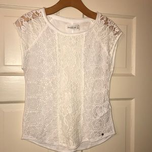 Lace front tee